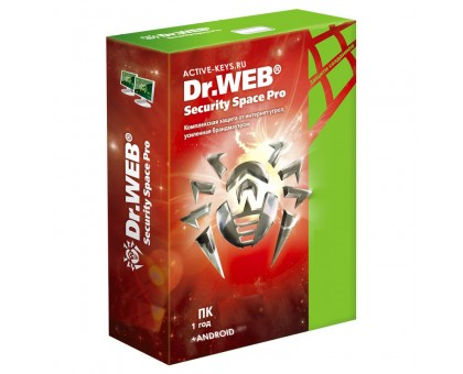 Dr.Web Security Space 1 год  (1 ПК +1 Android)